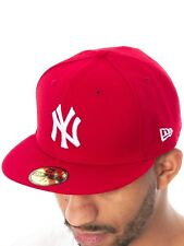New Era Scarlet-White MLB Basic New York Yankees Fitted Cap