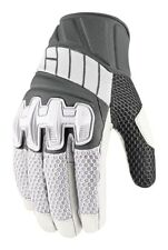 Icon Overlord Adult Leather/Mesh  Motorcycle Gloves, White