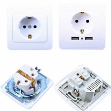 EU Plug Standard 16A 250V AC Power Wall Charger Outlet Panel Power Socket Plate