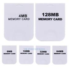 Practical Memory Card for Nintendo Wii Gamecube GC NGC Game White NEW TN2F