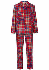 Walker Reid Mens Tartan Pyjamas Yarn Dyed 100% Cotton Button Up Traditional PJs