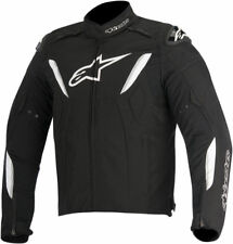 Alpinestars Mens Black/White T-GP R Waterproof Textile Motorcycle Riding Jacket