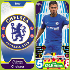 Match Attax 17 18 Chelsea - Team Cards - Star Player - Club Badge - Away Kit