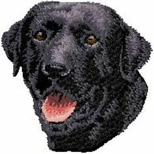Labrador Retriever Dog, Black  Embroidered Patch, or Embroidered Hat
