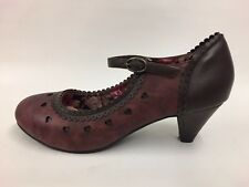 JOE BROWNS New Ladies Burgundy/Brown Mary Jane Court Shoes Pick Size 4's -7's