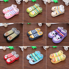 Cute Baby Toddler Kids Anti-slip Socks Shoes Slipper Crawling  Boots 0-39 Months