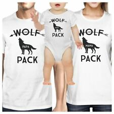 Wolf Papa Mens White Graphic T-Shirt Funny Gift Idea For New Dads