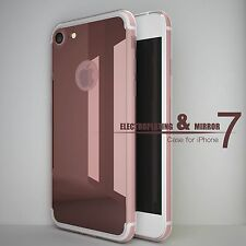 Mirror Back Rubber Crystal Clear Bumper Case Cover Protector iPhone USA Seller