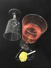 72 Disposable Plastic Wine Glasses Wine Goblet Cups Glass