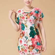 Summer style 2017 women casual blouses flor womens clothing plus size short slee