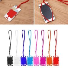 Silicone Detachable Lanyard Cell Phone Case Holder Strap Neck With ID Card Slot