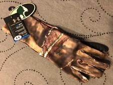UNDER ARMOUR PERFORMANCE MOSSY OAK COLDGEAR CAMO GLOVES L NWT