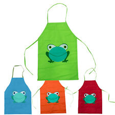 Children Kids Waterproof Frog Printed Painting Cooking Protective Apron TG