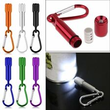 1Mini LED Portable Flashlight camping Keychain Torch Handy Light Lamps Carabiner