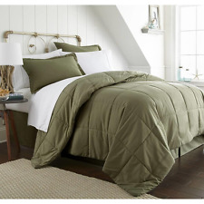 Sage Green Comforter Bed Set 8 Pc Ultra Soft Hypoallergenic Antimicrobial
