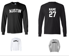 City of Austin Custom Personalized Name & Number Long Sleeve Jersey T-shirt
