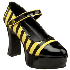 FUNTASMA BUZZ-66 Women's Costume Chunky Heel Mary Jane Bumble Bee Platform Pumps