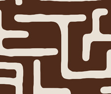 Kuba African Decor Upholstery Fabric Printed by Spoonflower BTY