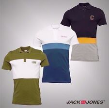 Mens Jack And Jones Slim Fit Short Sleeve Cotton Polo Shirt Top Size S-XXL