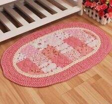 French Country Shabby Chic Cottage Floral Quilted Floor Door Bath Mat Rug P02