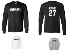 City of Yonkers Custom Personalized Name & Number Long Sleeve Jersey T-shirt