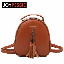 Joypessie Women's Leather Backpack mini Tassel backpack women PU back pack backp