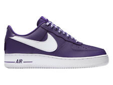 NEW MENS NIKE AIR FORCE 1 LV8 NBA BASKETBALL SHOES TRAINERS COURT PURPLE / WHITE
