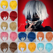 Free Shipping Unisex Short Hair Wig/Wigs Cosplay Party Dress Full Wigs Black USA