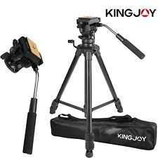 Professional Heavy Duty Video Camera Tripod with Fluid Pan Head Kit 65' Inch EW