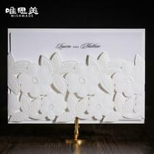 Wedding Laser Cut Floral Invitation Cards Card White Party Invitations Romantic