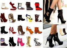 NEW Women 20 Pairs Wholesale Lot Mixed Boots High Heels Platform Pumps Shoes