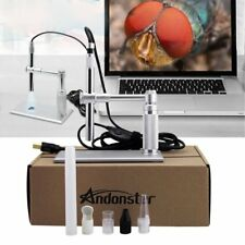 5MP USB 500X 8 LED Digital Microscope Endoscope Magnifier Camera+Lift Stand SU