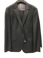 NEW Hugo Boss Mens Suit 100% Wool Taupe Brown Made In USA 2 Button 42 L