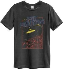 Amplified Foo Fighters Flying Saucers T-Shirt Charcoal Men's Ribbon Size S-XXL
