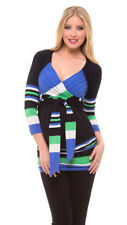 OLIAN Maternity Women's Black Striped Patti Sweetheart Neck Tunic $135 NWT
