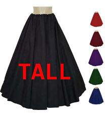 MEDIEVAL RENAISSANCE Pirate Civil War Gypsy Long Length Tall Skirt 11 Colors