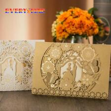 Wedding Floral Laser Cut Hollow Cards Invitations Elegant Invitation Set Elegant