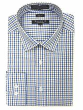 Marquis Men's Tattershall Checkered Long Sleeve Slim Fit Dress Shirt