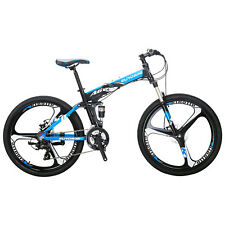 "26"" Folding Bike Mountain Bicycle Shimano 21 SPeed Aluminium Frame Full MTB New"