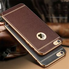 Luxury Slim Ultra-thin Leather Soft TPU Case Cover For iPhone 8 8 Plus X 6S 5 SE