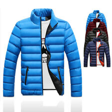 Mens Warm Cotton Padded Down Coat Winter Slim Thick Casual Outerwear Jackets