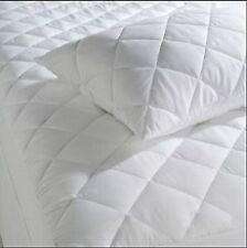 NEW Supersoft Luxurious PERCALE QUILTED MATTRESS and PILLOW PROTECTORS