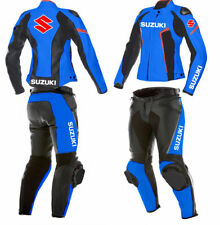 Suzuki Ladies Motorbike Leather Suit Motorcycle Sports Rider Leather Suit