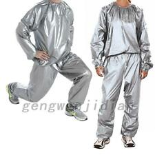 Men Women Sweat Sauna Suit Fitness Weight Loss Exercise  L-5XL Nice Quality