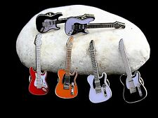 Fender Style Guitar Pin Badge Range - Telecaster & Stratocaster, Choose Colour!