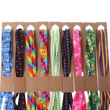 Unisex Colorful Shoelace Casual Sneaker Boot Flat Shoelaces Shoe Strings New