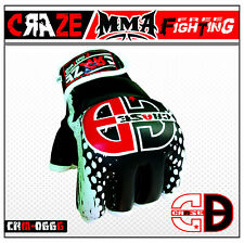 New MMA UFC Leather Boxing Gloves Sparring Kick Thai Gym Punching Bag Half Mitt
