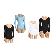 Women Lady Long Sleeves Gymnastics Cotton Leotard Top Ballet Dance wear Costume