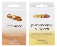Pack of 15 Incense Cones With Metal Cone Holder Cinnamon Or Frankincense & Myrrh
