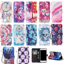Leather wallet pouch flip stand case skin cover For Ipone 5S SE 6/6S 7 8 Plus